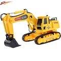 Digger Escavadeira RC 8 CH RC, r/c escavadeira, Função com luz de controle remoto shovelloader Modelo Dig brinquedo eletrônico
