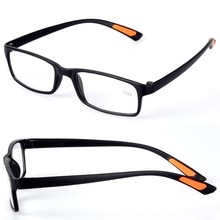 Hot Chic Resin Framed Eyeglass Grid Case with Belt Clip Clear Men Women Reading Glasses +1.0 1.5 2.0 2.5 3.0 3.5 4.0 Diopter
