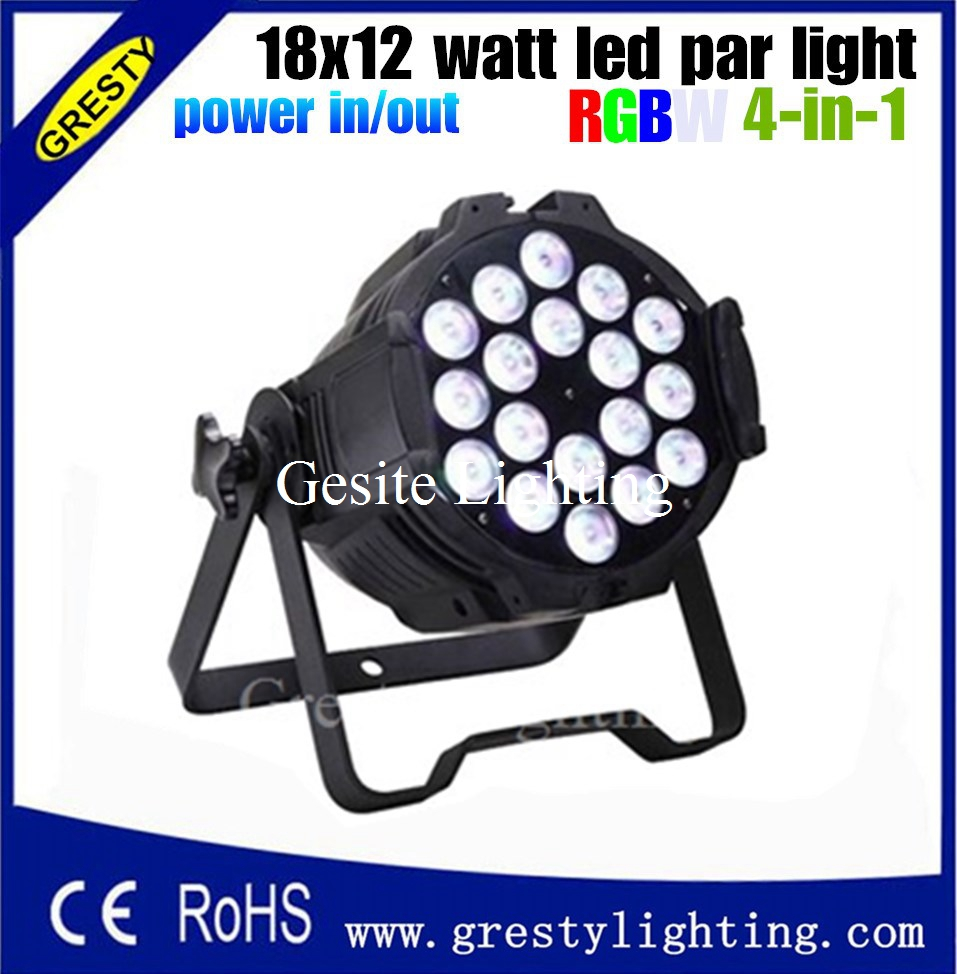 6 pieces/lot 18x12W RGBW 4in1 led par light DMX512 led Stage lighting for sale power in power out  4pcs lot the brightest 4 8 dmx channels led flat par 18x12w rgbw 4in1 led par can light with power in power out