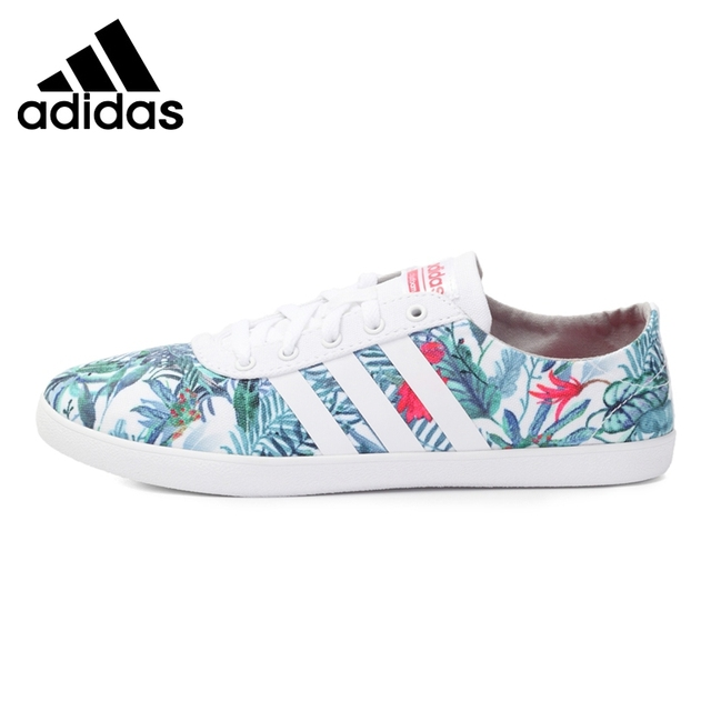 adidas neo with flowers