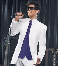 Boxer brings the latest high quality white 4 times the groom's wedding dress / best suit / work clothes (jacket + pants + tie, v