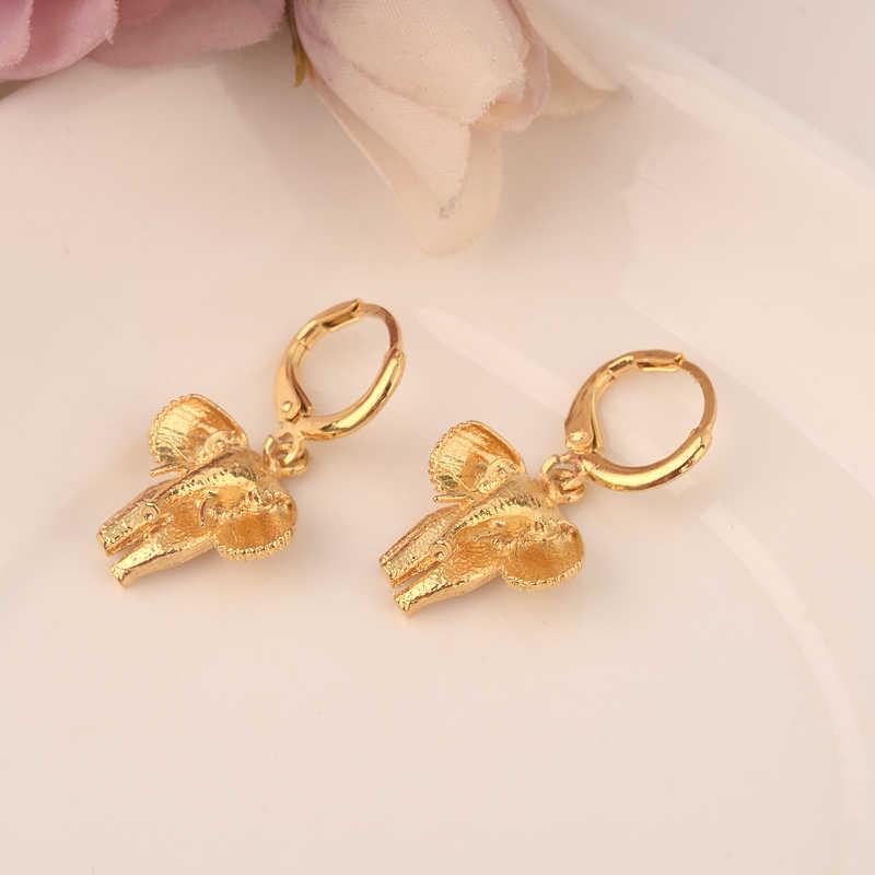 Oro amor gota pendiente etíope/Nigeria/Kenia/Gaza color oro Dubai árabe africano joyería del Medio Oriente mamá regalos