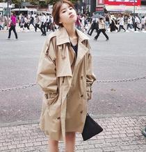 2018 New Autumn Windbreaker Female Khaki Korean Version Loose Thin Spring Lady fashion women Trench