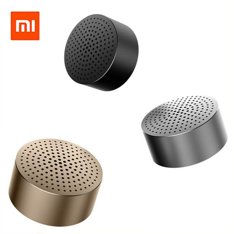 Xiaomi Mi Bluetooth Speaker Portable Wireless Mini Round Box Lourpeaker Metal Steel Stereo HIFI Three Colors New Original free shipping original xiaomi mi speaker bluetooth portable wireless stereo loud speaker box for smartphone support tf sd card