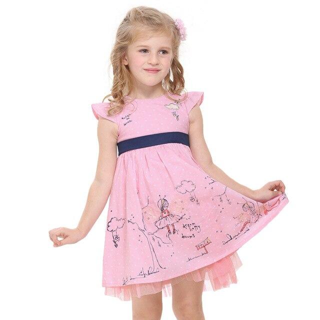 53c81504a172 Vestidos de niños para niños niñas 2-6 años 2018 Rosa verano desgaste de los
