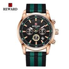 Luminous Hands Chronogragh Watch For Men Top Luxury Brand REWARD Mens Quartz Watches Waterproof Sports Wristwatch Military XFCS