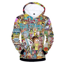 KPOP Rick and morty Cartoon 3D Casual Hoodie Costume Anime Hooded Fleece funny Hoodie winter/fall Comics XXS-4XL coat clothes