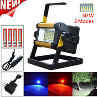 50W 36 LED Portable Rechargeable Flood Light Camping Fishing Lamp 18650 Charger Outdoor Bicycle Accessories High