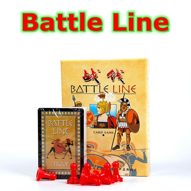 Ingles Y La Version En Chino Linea De Batalla Juego Familia Tarjetas