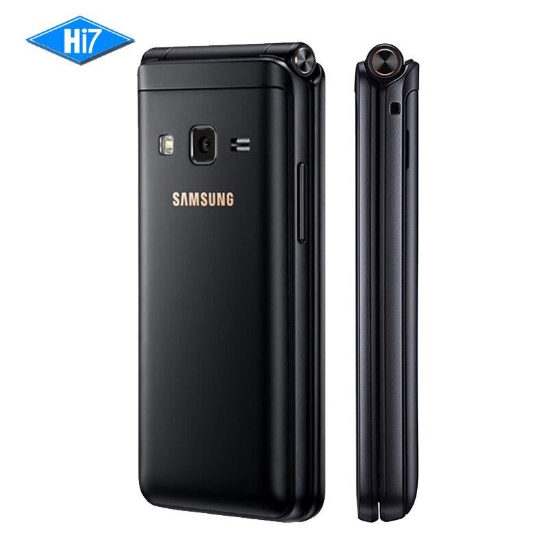 Nouvelle D'origine Samsung Galaxy Dossier 2 G1650 Dual SIM 16 GB ROM 2 GB RAM Quad Core 8.0MP 3.8 Flip SmartPhone 4G LTE Mobile Téléphone