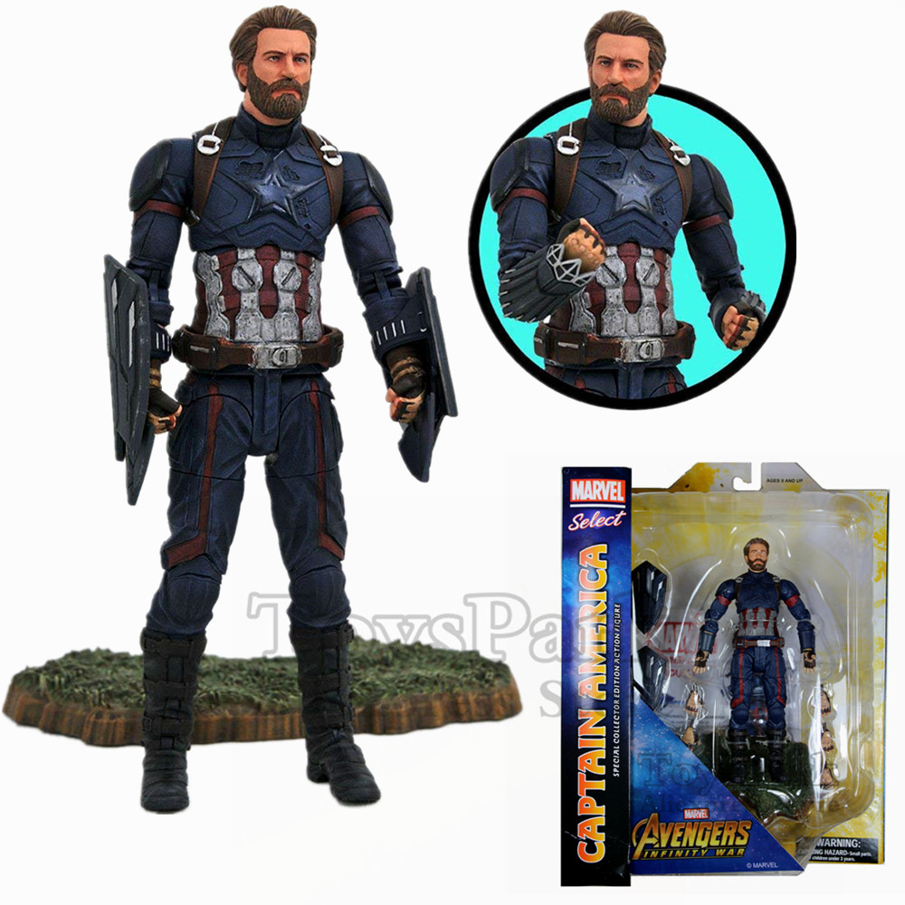 Original Marvel Select Avengers 3 Infinity War Captain America 7 Action Figure Diamond Select DST MS