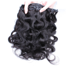 Brazilian Body Wave Hair Clip In Human Hair Extensions 100% Natural Virgin Human Hair Weave Bundles Clips 7Pcs/Set CARA