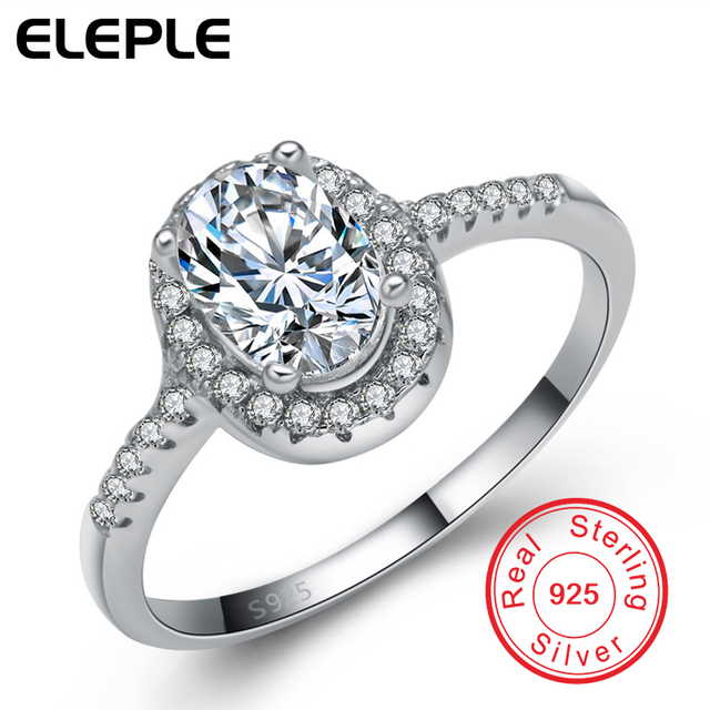 2016 New! 925 Sterling Silver Ring 3 Carat CZ Diamond Beautiful Wedding Ring Real glittering Fashion Jewelry For Women ECYE115