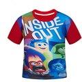 De adentro hacia afuera para los niños 4-12 años de edad grande virgen de algodón T-shirt niño y niña de manga corta camisetas