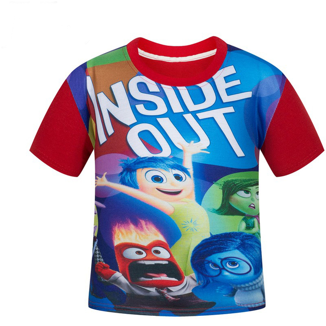 inside out for children 4-12 years old big virgin cotton T-shirt boy and girl short sleeve t shirts
