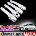 Mazda 8 MPV 2006-2016 Krom kulp kılıfı Trim Seti Mazda8 2007 2009 2011 2012 2013 2015 Araba Aksesuarları çıkartmalar Araba Styling