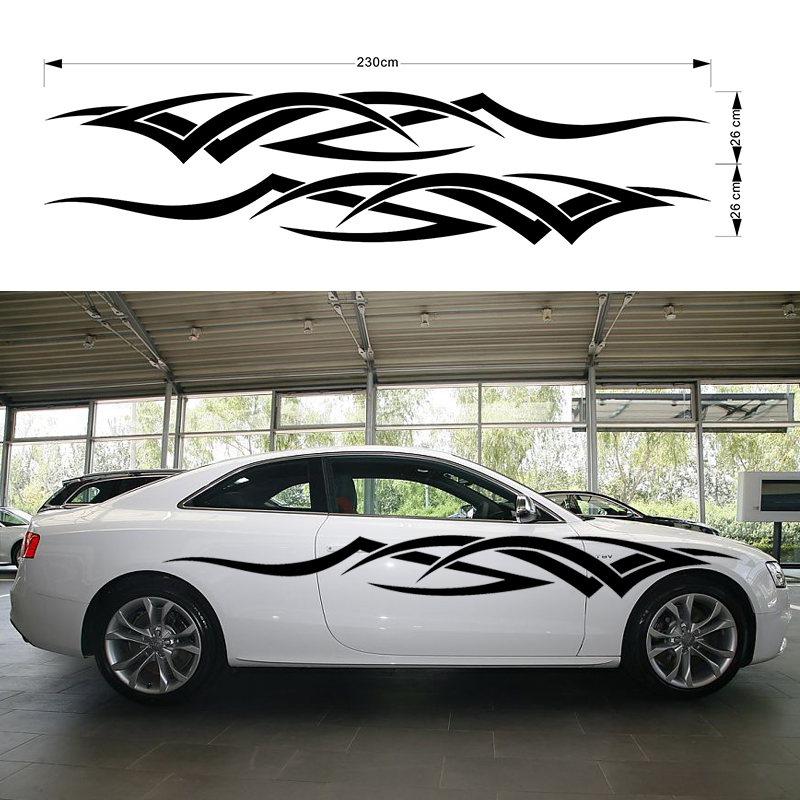 2x Dynamic Movement Hand Carved Car Sticker for Racing Fashion Sports Car Motorhome Caravan Travel Trailer Campervan Vinyl Decal