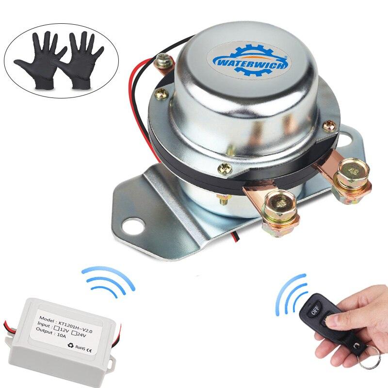 Commutateur électromagnétique à télécommande de batterie 12 v 24 v pour la déconnexion automatique de voiture coupez l'isolateur de commutateurs principaux 12 v 24 v