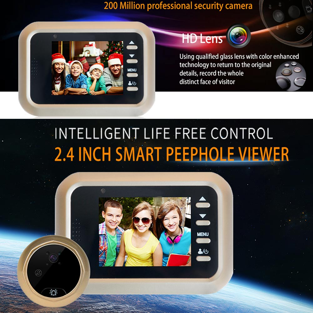 все цены на Smart Visual Doorbell 2.4inch Peephole Viewer 2.0MP Night Vision Security Electronic Door Eye LCC77