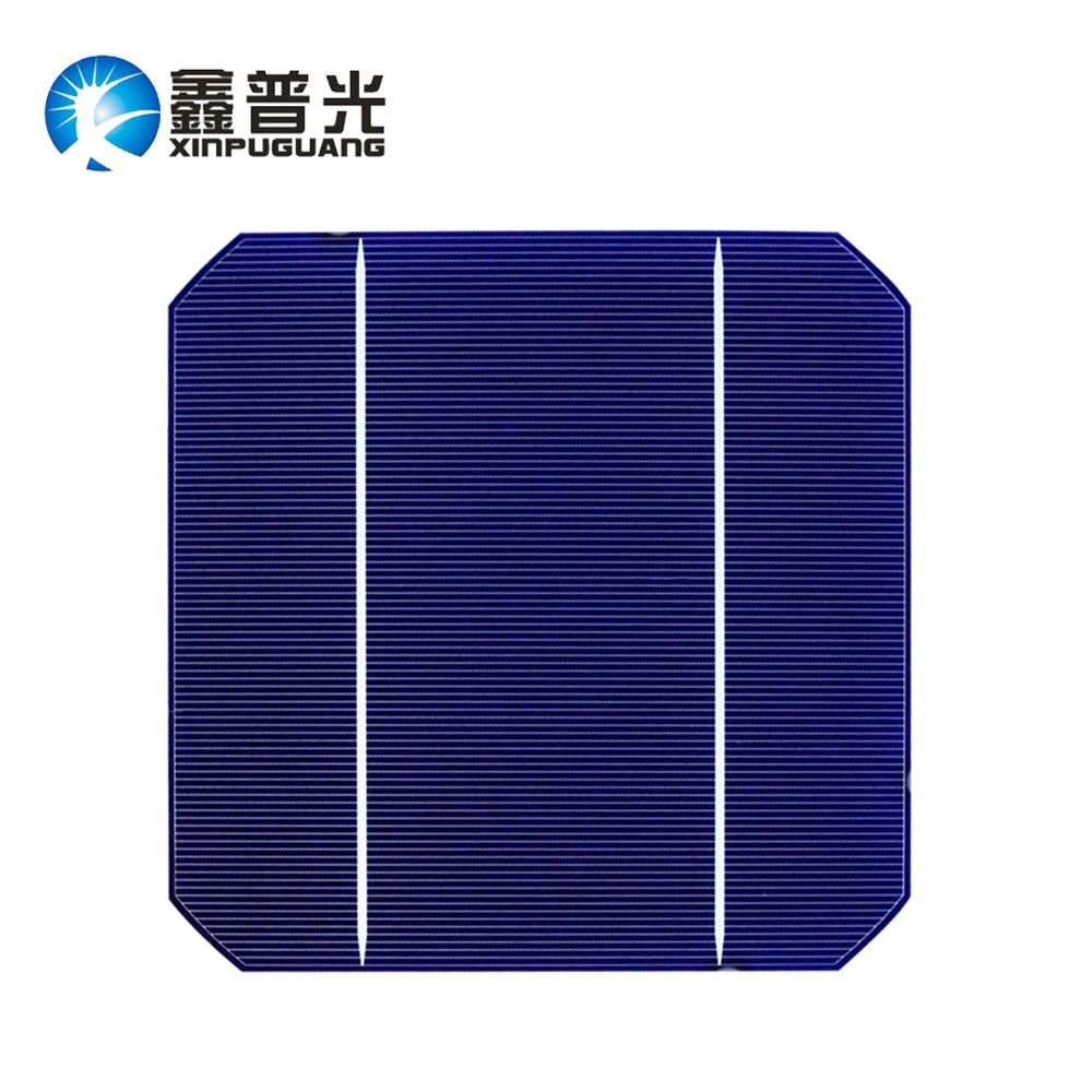 XINPUGUANG 60PCS PV Photovoltaic 4.8w monocrystalline Silicon mono cell 156*156MM DIY kit 280w solar panel 0.5v Grade A