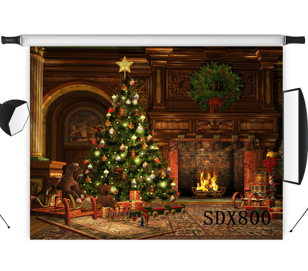 Lb Polyester Amp Vinyl Christmas Tree Warm Fireplace Gifts