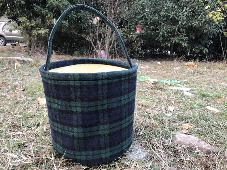 59407e8a8607 Плед пасхальное ведро хлопок кролик мешок для корзин DIY Банни сумки для  хранения милый Пасхальный подарок