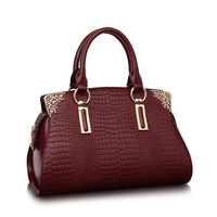 New Arrival Crocodile Handbag Women Fashion Female Bag High Quality Totes Bag Medium Genuine Leather Hand
