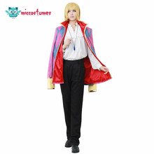 Disfraz de Cosplay de Howl que incluye collar de joyería, ropa de Anime para hombre