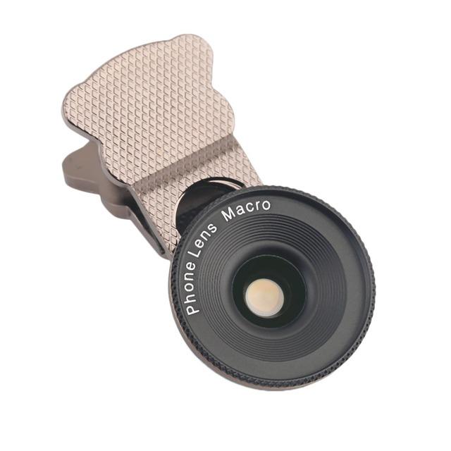 Profesional 20X Lente Macro Teléfono Móvil Clip Len de Vidrio de Alta Óptica 20-50 MM Distancia de Enfoque Para la Toma de Fotos