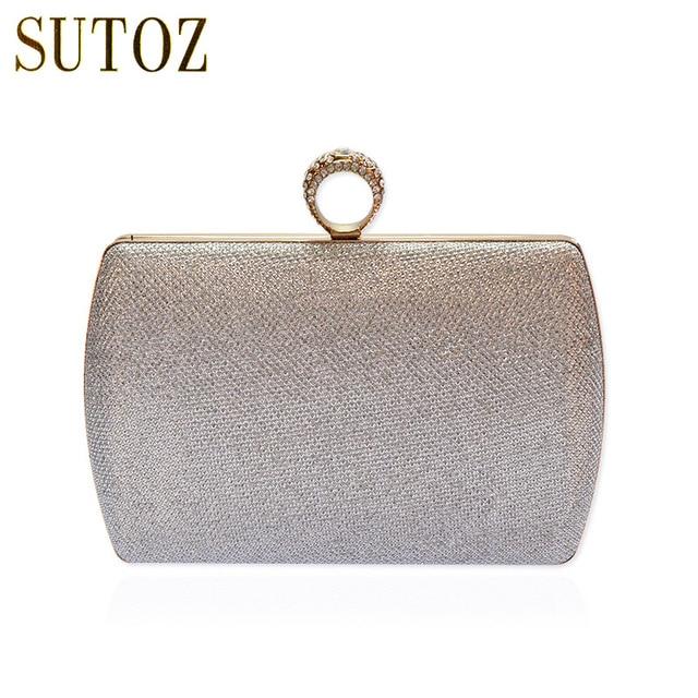 Luxury Diamond Rhinestones Evening Bags Knuckle Ring Women Clutch Chain Shoulder Wedding Purse Wallets Bag