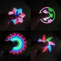 200PCS PSTYLEDS WORD Fidget Spinner LED Light ABS EDC Stress Wheel Hand Spinner For Kids ADHD
