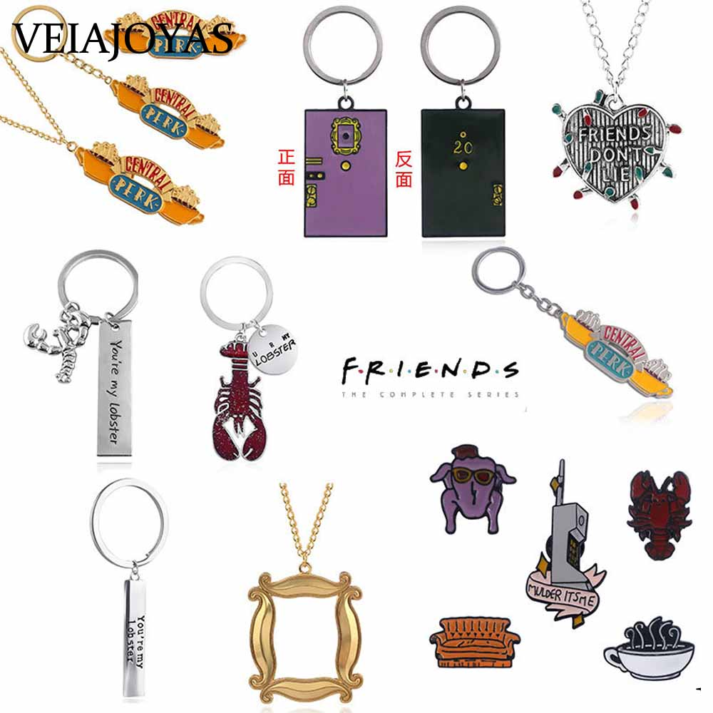 American TV show Friends Keychains Central Perk Coffee Time Pendant Key Chain For Best friend Car Keyring llavero Jewelry Gifts image