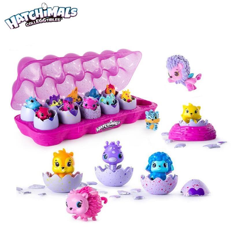 Genuine Hatchimals eggs mini cute pets eggs Creative toy children - boys and girls gift toys set cute simulation wooden eggs toys white orange