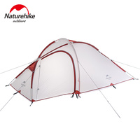 NatureHike Large Family Tent Waterproof 20D Silicone Fabric Double Layer 2 Person Lightweight Outdoor Hiking Camping