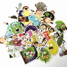 TD ZW 69Pcs Drama Rick and Morty Stickers Decal For Snowboard Laptop Luggage Car Fridge DIY Styling Vinyl Home Decor Pegatina