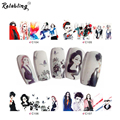Fashionable Lady Design full cover nail sticker water transfer on nail decoration sticker for nail sticker girl design