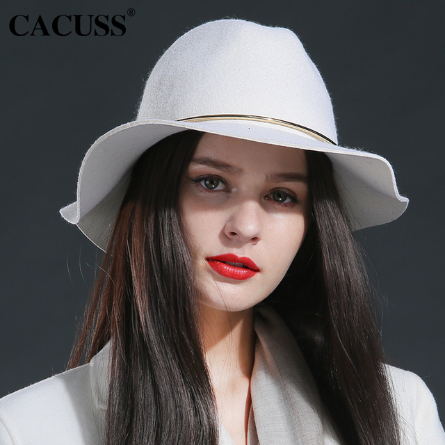 Cacuss brand winter hats women large brim winter wool hats fashion girl  elegant female winter hats special fedoras hats girl 59608a9c39a