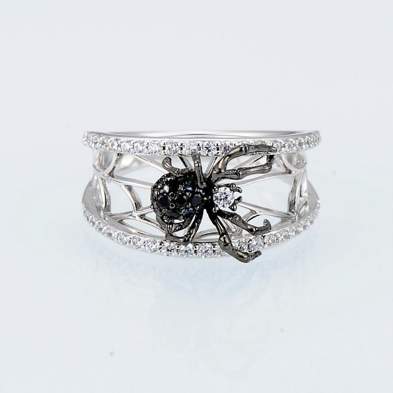 SANTUZZA sudraba zirnekļa gredzens sievietēm 925 sudraba unikālie - Modes rotaslietas - Foto 3