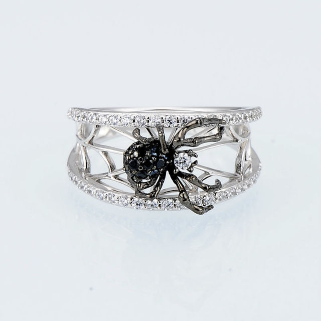 925 Sterling Silver Spider Ring3