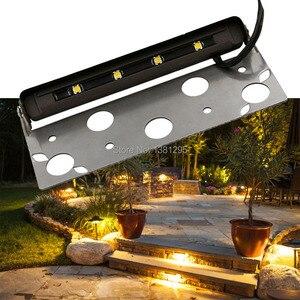 Image 5 - 12Pcs Laagspanning 12V Led Hardscape Deck Stap Outdoor Tuinpad Bestrating Patio Accent Landschap Licht Keermuur lamp Beugel