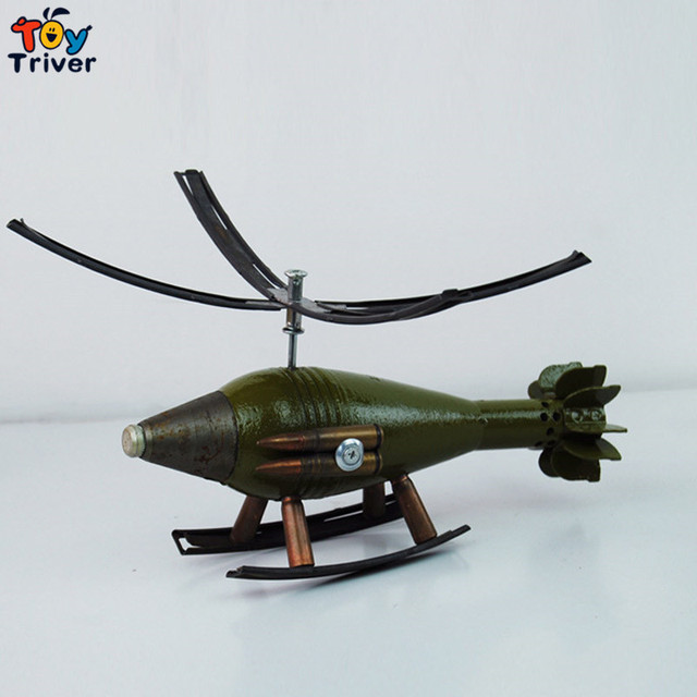 Bullet Shell Helicopter Model Military Collection Toys Souvenirs Home Deco Birthday Christmas Gift For Boy Boyfriend Men
