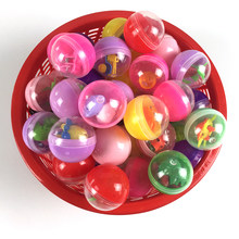 10pc/pack transparent plastic Surprise ball capsules toy with inside different figure toy vending machine In Shilly Egg Balls(China)