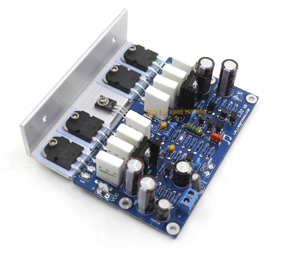 Assembeld L20 Mono Amplifier Board With Angle Aluminum Mono 350W Amp Board assembeld mono na 2 power amplifier board base on naim nap200 amp 75w mono board
