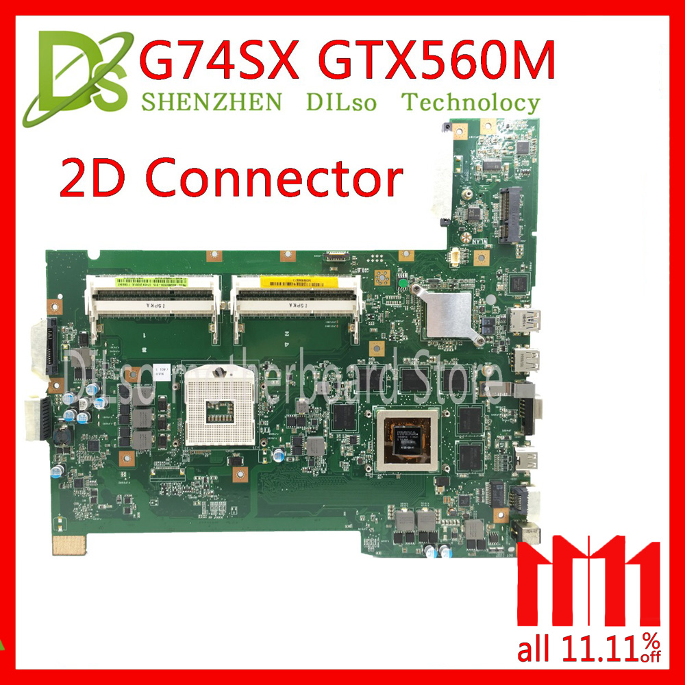 KEFU G74SX motherboard for ASUS G74SX GTX560M support 2D connector 8 Memory's laptop motherboard 100% test original in stock цена