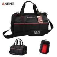 Single Layer Classic 12 Tool Bags 600D Close Top Wide Mouth Electrician Bags Canvas Tool Bag
