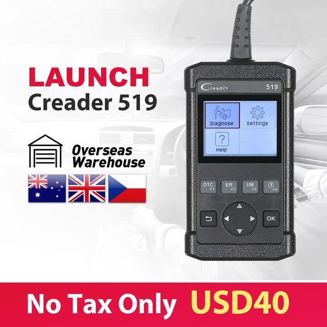 Special Offers Launch Creader 519 Code Reader Scanner full OBDII/EOBD function CR519 same as Creader 5001 Autel AL519 Diagnostic Tool free ship