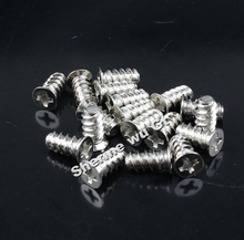 Free shipping wholesale 1000pcs New Silver 4x10mm Screw Small Screws For PC Computer Case Fan Fastener
