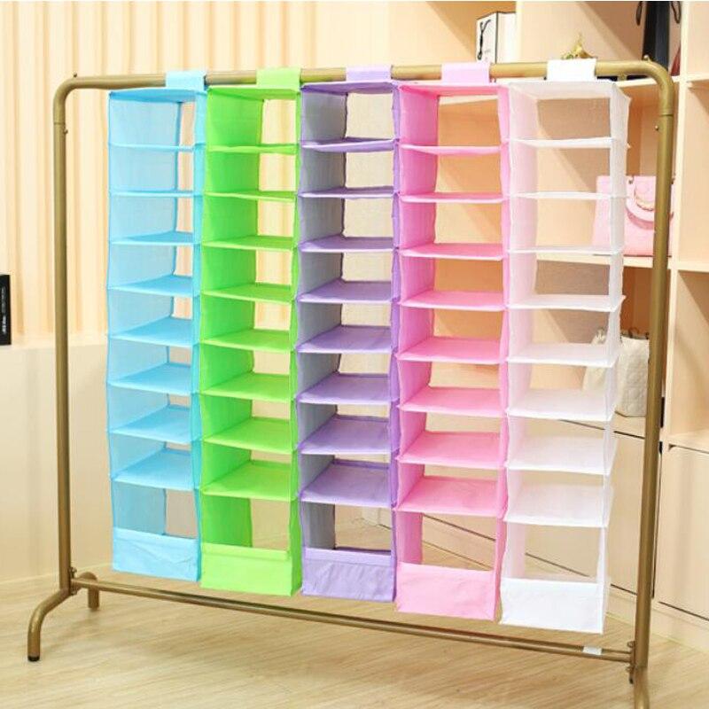 FILBAKE 9 Celular Pendurado Caixa de Underwear Classificação Sapato Roupas Jean Mails De Armazenamento Organizador Do Armário de Parede Porta Organizadores Saco