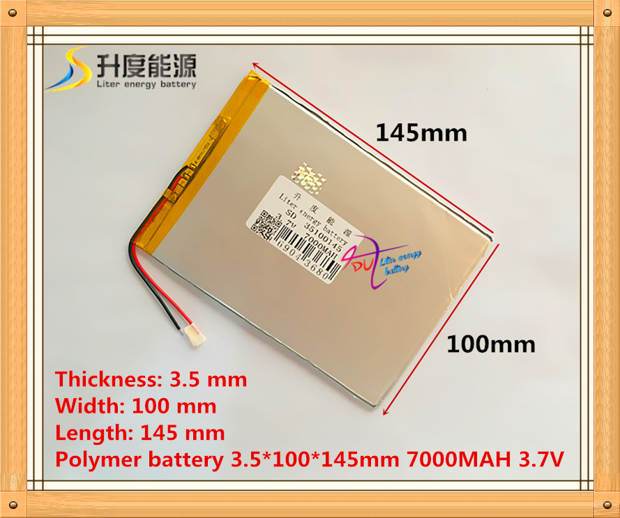 3.7v 7000mAH (polymer lithium ion battery) Li-ion battery for tablet pc 9.7 inch 10.1 inch speaker [3.5*100*145] Free Shipping fedex free shipping 100pcs lot lithium ion polymer battery 2000mah 3 7v li ion rechargeable battery pack with bms for tablet pc