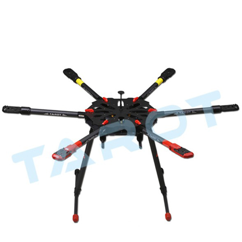цены Quadcopter frame Tarot X4 Folding Carbon Fiber Kit X6 Hexacopter frame drones multicopter Diy drone helicopter quadcopter parts